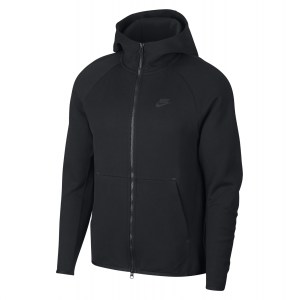 Nike Sportswear Tech Fleece Full-Zip Hoodie Black-Black
