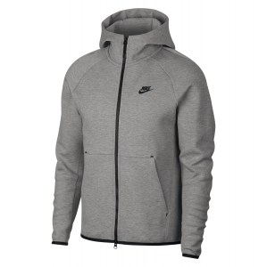 Nike Sportswear Tech Fleece Full-Zip Hoodie Dk Grey Heather-Black-Black