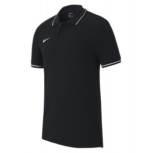 Nike Team Club 19 Polo Black-White