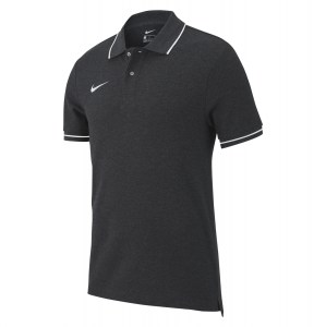 Nike Team Club 19 Polo Charcoal Heathr-White