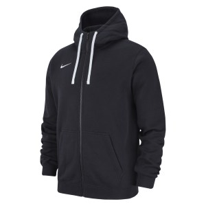 Nike Team Club 19 Full Zip Hoodie Black-Black-White-White