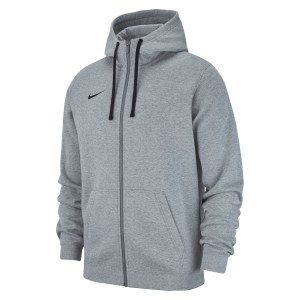 Nike Team Club 19 Full Zip Hoodie Dk Grey Heather-Dark Steel Grey-Black