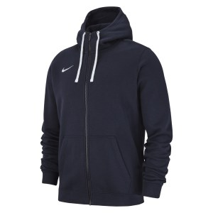 Nike Team Club 19 Full Zip Hoodie Obsidian-Obsidian-White-White
