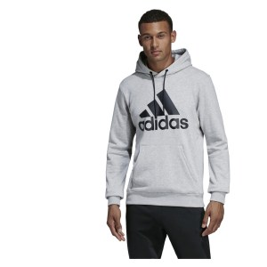 Adidas Must Haves Badge of Sport Hoodie Medium Grey Heather-Black