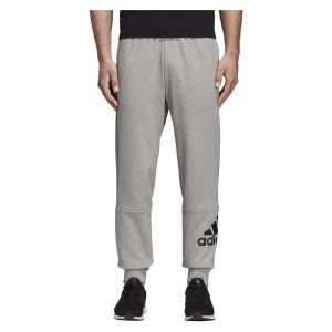 Adidas Must Haves French Terry Badge of Sport Pants Medium Grey Heather-Black