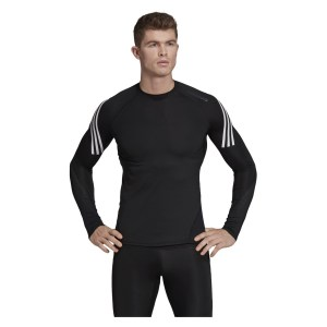Adidas-LP Alphaskin Sport+ 3-stripes Long Sleeve Top