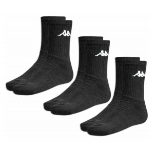 Kappa Sports Sock (3 Pack) Black
