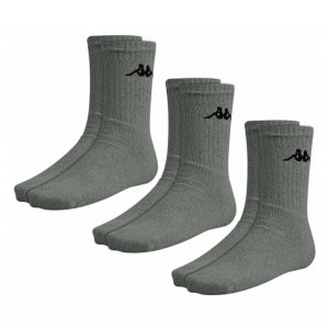 Kappa Sports Sock (3 Pack) Charcoal