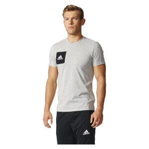 Adidas TIRO17 TEE Medium Grey Heather-Black-White