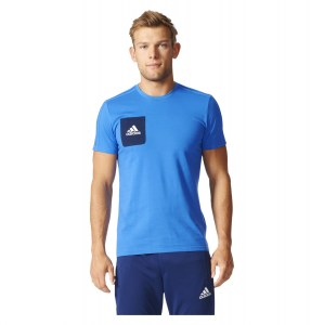 Adidas TIRO17 TEE Blue-Collegiate Navy-White