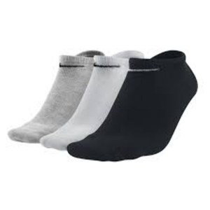 Nike 3 PACK OF NO SHOW TRAINING SOCKS Gh-(bk)-Wh-(bk)-Bk-(wh)